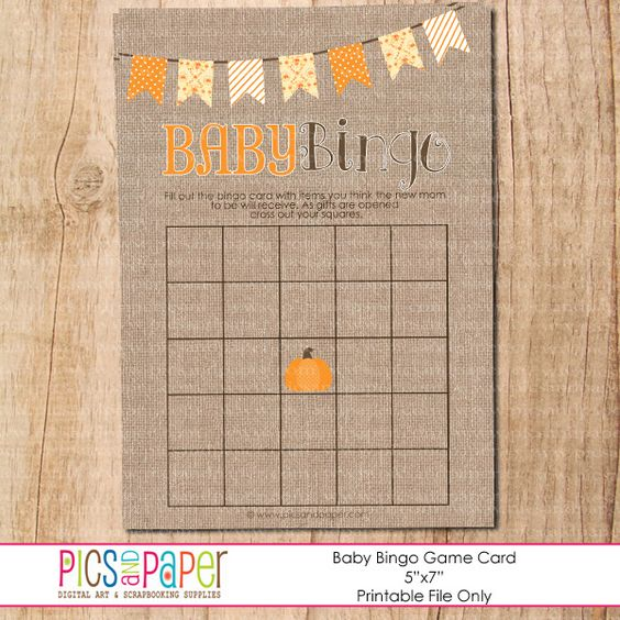 baby bingo game little pumpkin baby shower boy pinterest bingo little pumpkin and baby. Black Bedroom Furniture Sets. Home Design Ideas