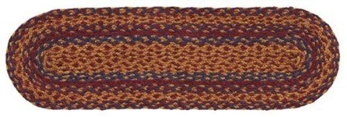 """Millsboro Jute Stair Tread Oval 8.5x27"""" by Victorian Heart. $11.20. See Product Description below for more details!. All cloth items in our collections are 100% preshrunk cotton. All braided items (like rugs, baskets, etc.) are 100% jute. Extensive line of matching items and accessories available! (Search by Collection name). High end quality and workmanship!. Product measurements and additional details listed in title and/or Product Description below.. 100% Jute"""