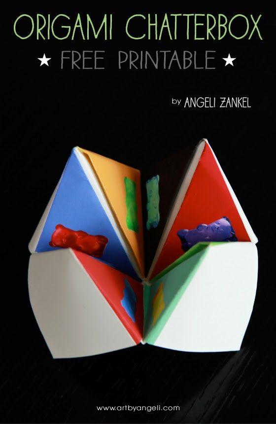#chatterbox #fortune teller #origami #diy #free #craft #artbyangeli