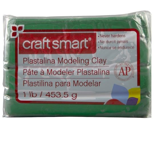 Plastalina Modeling Clay By Craft Smart In Green 1 Lb