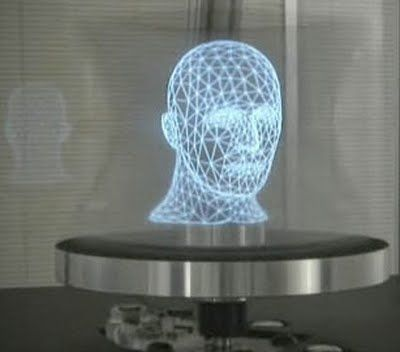 Image result for green hologram head