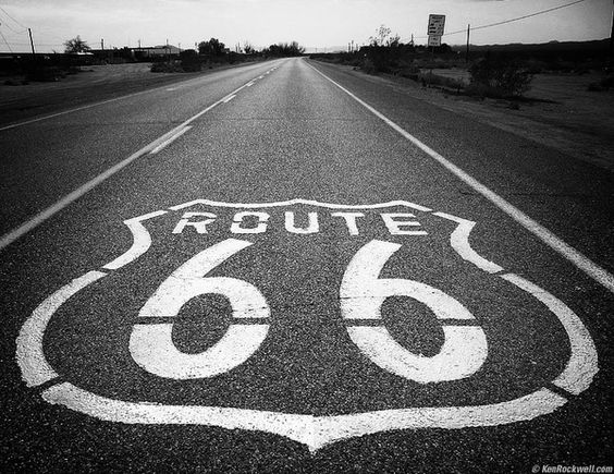 The highway, which became one of the most famous roads in America, originally ran from Chicago, Illinois, through Missouri, Kansas, Oklahoma, Texas, New Mexico, Arizona, and California, before ending at Los Angeles, covering a total of 2,448 miles (3,940 km).: Bucket List, Route 66 Road Trip, American Roadtrip, Famous Roads, American Road Trips