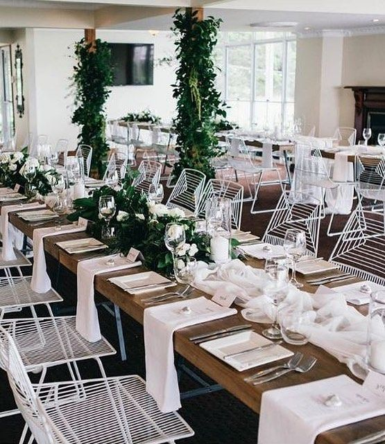 Modern Contemporary Wedding Style Created By Lovebirdweddings At Venue Malenyweddings Florals By Contemporary Wedding Wedding Modern Contemporary Reception