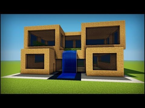 Minecraft How To Build A Simple Oak Modern House Youtube