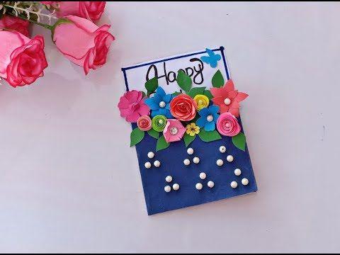 Beautiful Handmade Birthday Card Birthday Card Idea Youtube Greeting Cards Handmade Birthday Handmade Birthday Cards Handmade Cards Diy