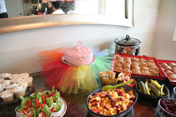 Cute ideas....DIY foam 2. Tutu cake. Tablecloth from ceiling decor.