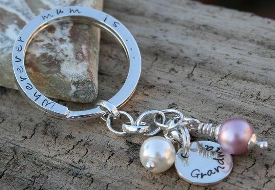 Personalised 'Wherever Mum Is…' Key Ring