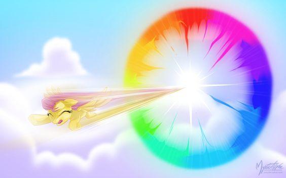 "Fluttershy - Sonic Rainboom by mysticalpha on DeviantArt wouldn't it be a sonic ""flutter""boom"
