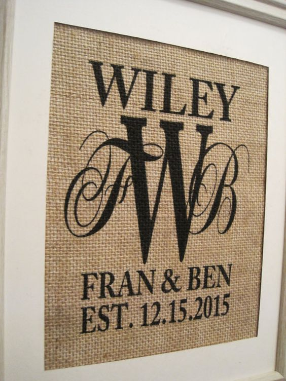 WEDDING GIFTWedding GiftsBurlap Wedding GiftBurlap by SunBeamSigns, $21.00