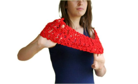 Pom Pom Infinity Scarf in Red #knitting #681team http://www.etsy.com/listing/88946948/pom-pom-infinity-scarf-in-red-fall?ref=tre-2723331594-9