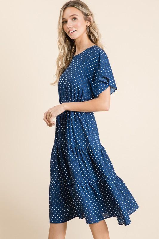 31++ Blue polka dot dress info