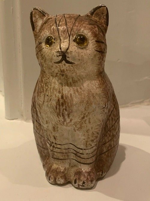 29 99 Small 4 Vintage Painted Cast Iron Cat With Glass Eyes Still Bank Vendingmachineforsale Registersforsa Vintage Painting Antique Cast Iron Penny Bank
