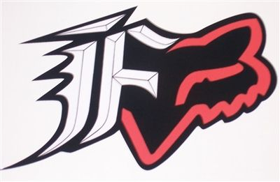 Fox Racing Red And Black F W Head 8 X9 Window Decal Full Color Printed Decals Fox Racing Tattoos Bike Drawing Fox Racing Logo