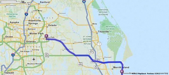 Cocoa Beach Florida Mapquest Tidal Treasures - Mapquest georgia