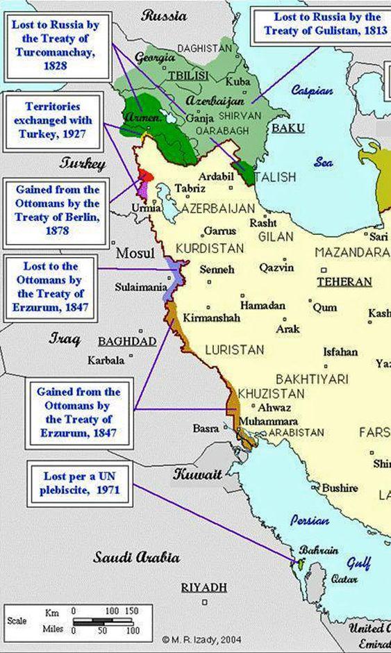 Iran Politics Club: Iran Historical Maps 10: Qajar Persian Empire, Qajar…