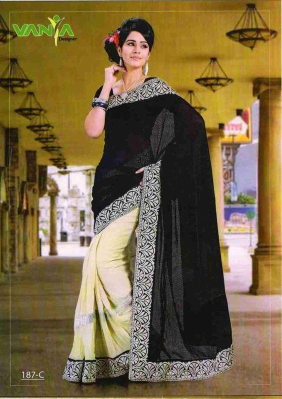 Details about Buy 1 Get 1 Free Partywear Bollywood Sari Designer ...