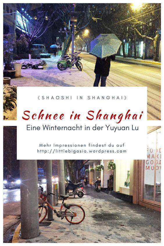 Schnee in Shanghai 2018