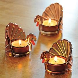Turkey Glass Tealight, Tea Light Holder | Solutions