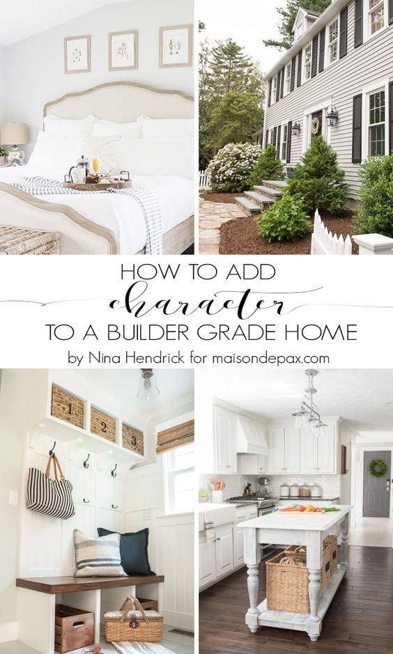 5 Tips for Adding Character to a Builder Grade Home: We can't all live in historic homes, but these tips on how to add character to your builder grade home will not only bring beauty into your space but even add value to your home!