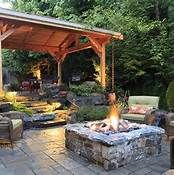 small patio ideas with fire pit - Bing Images