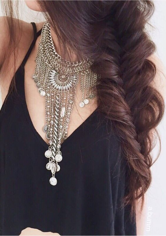Boho Bohemian Statement Necklace #glam #hairstyle #style #lookoftheday #necklace - 24,90 € @happinessboutique.com