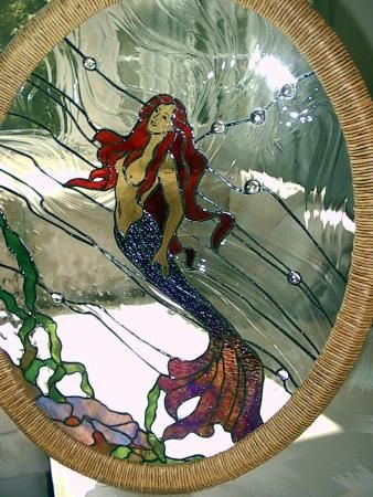 Warner Stained Glass - Online Gallery, love this, but wheres the shark?