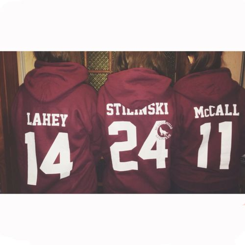 Teen Wolf hoodies! I have the McCall one thanks to a certain two lovely people! Xxx