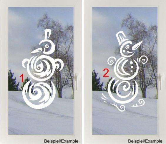 Schneemann - Designwahl - Fenster-Tattoo von DOON Germany auf DaWanda.com