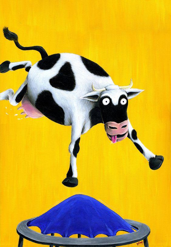 Cow trampoline print - Gabriel Cunnett