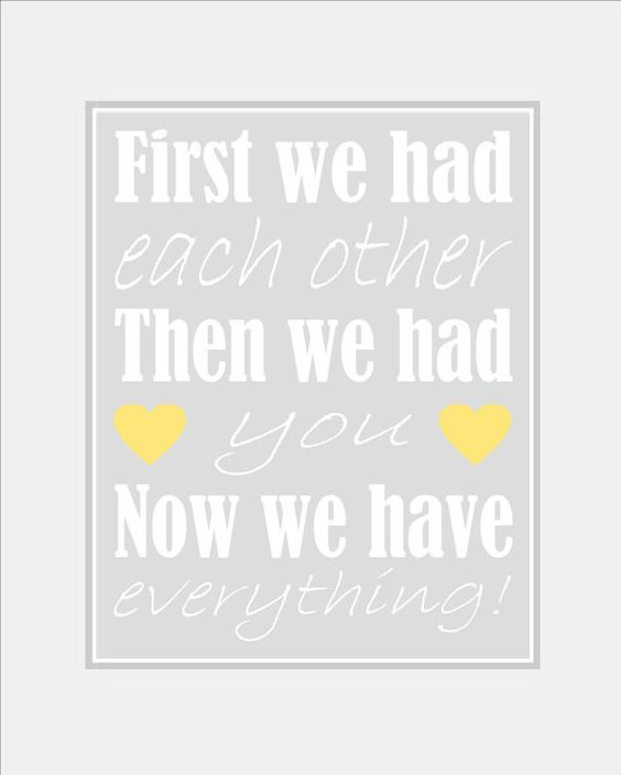 First We Had Each Other Nursery Wall Art by SilverPenguinPrints