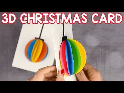 3d Paper Ornament Christmas Card Simple Christmas Craft For Kids