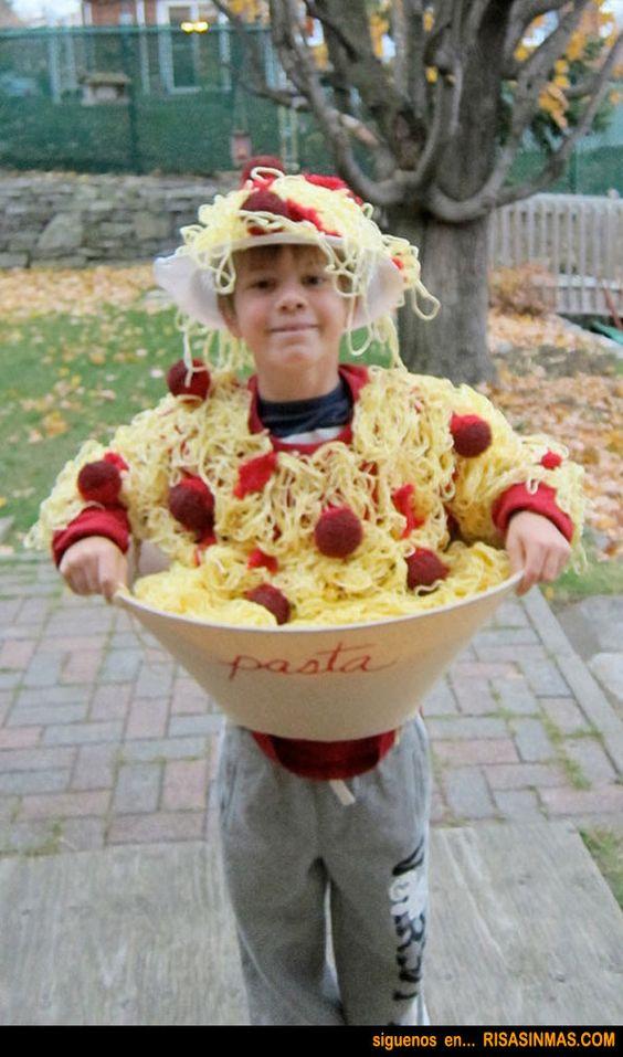 Disfraces originales: Pasta con albóndigas