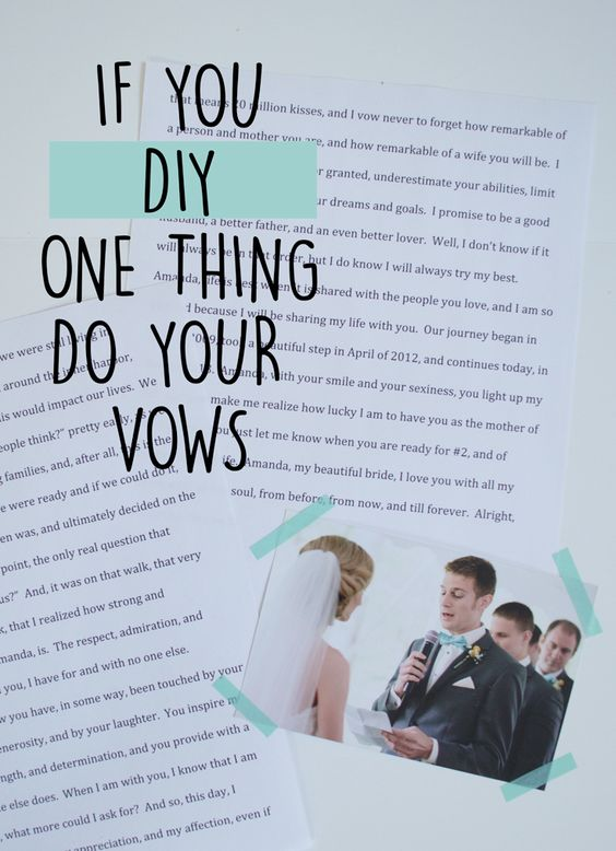 how to write your own renewal vows