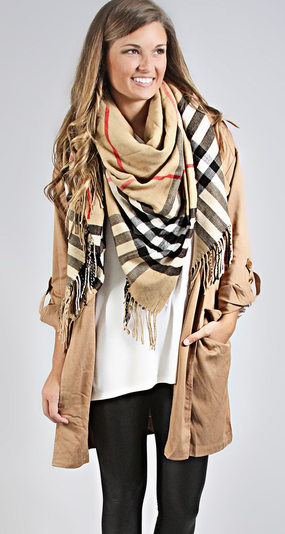perfect plaid scarf for fall layers