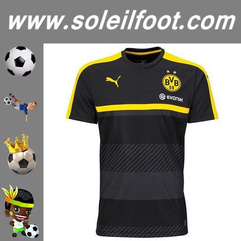 Nouveau Training T-Shirt De Foot Dortmund BVB Noir Saison 16 17 Moins Cher