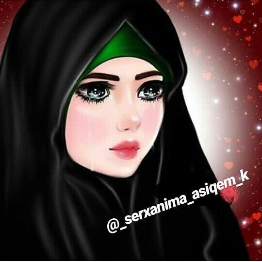 Pin By Nina Loulla On Hicab Cartoon Girl Drawing Girly Drawings Cute Cartoon Girl