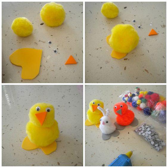 Animalitos de primavera hechos en la casa con materiales - Manualidades en casa ...