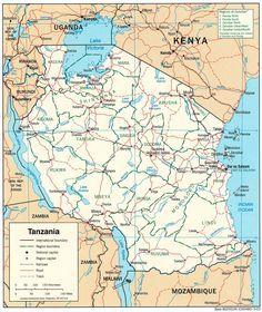 tansania karte im Tansania Reiseführer http://www.abenteurer.net/3035-tansania-reisefuehrer/