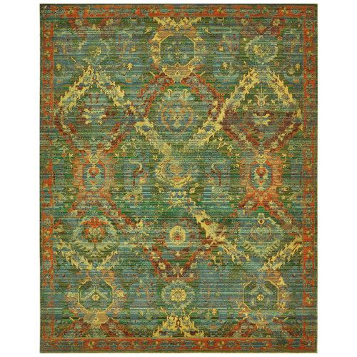 Found it at Wayfair - Eternal Seaglass Floral Area Rug