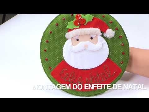 Enfeite De Natal Para Porta Feltro Passo A Passo Enfeites De