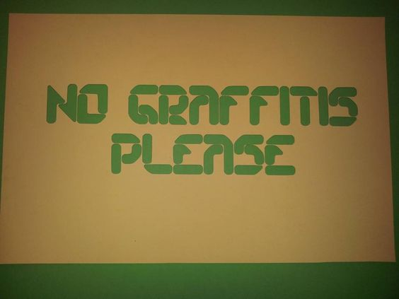 NO GRAFFITIS PLEASE 500X325mm
