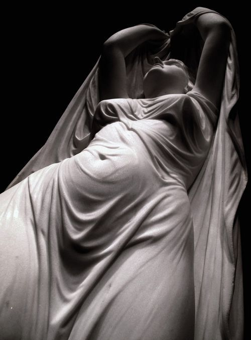Undine Rising from the Water (detail) c. 1880-82 ~ Chauncey Bradley Ives: