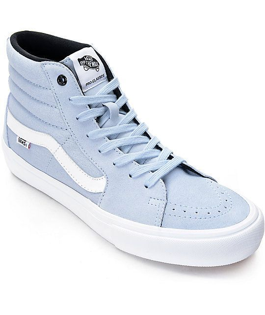 Vans Sk8-Hi Pro Blue Fog Skate Shoes
