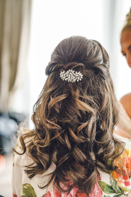 Curled Wedding Hairstyle Large Curls Hair Twist With
