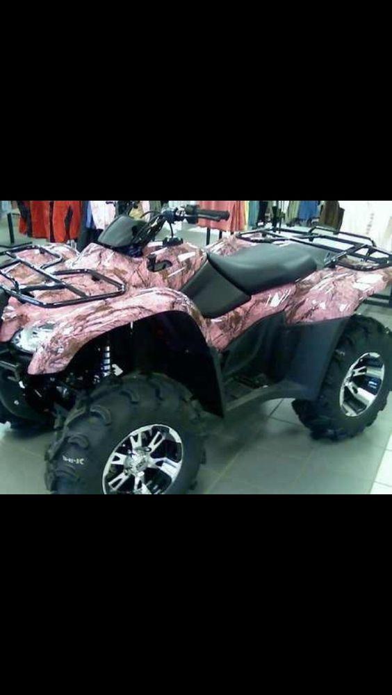 Pink camo four wheeler