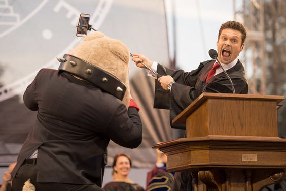Ryan Seacrest delivers University of Georgia commencement keynote address at Stegeman Coliseum on May 13, 2016 in Athens, Georgia.