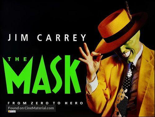 The Mask 1994 British Movie Poster Jim Carrey 2 Jim Carrey Movie Posters Mask