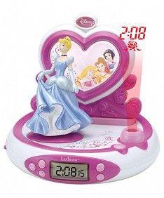Radio Despertador Proyección Princesas Disney