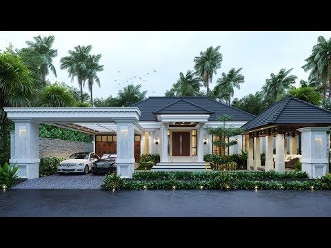 Private House Design 139 Tropical Villa Bali Style By Emporio Architect Youtube House Roof Design Village House Design Bungalow House Design