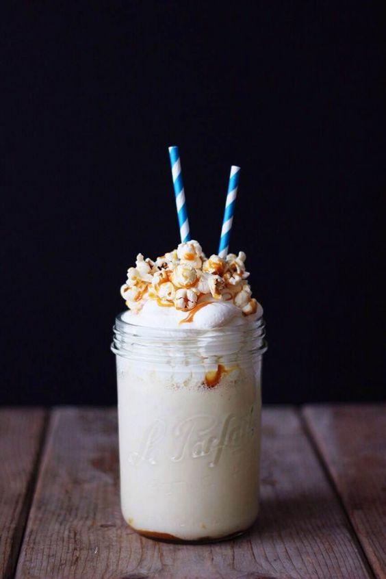 Milkshake popcorn... Sunrise oversea: